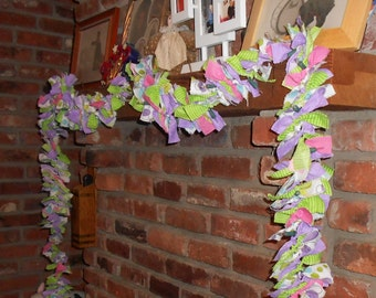 You Choose The Colors For a Custom Made Fabric Garland - With or Without Lights