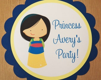 Mulan Party Sign - Customized Princess Party Decor by The Birthday House