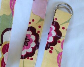 D Ring Belt, summer floral ,m/l