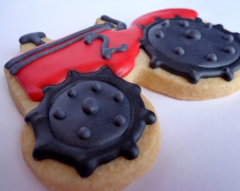 TRACTOR COOKIES 12 Decorated Sugar Cookie Party Favors