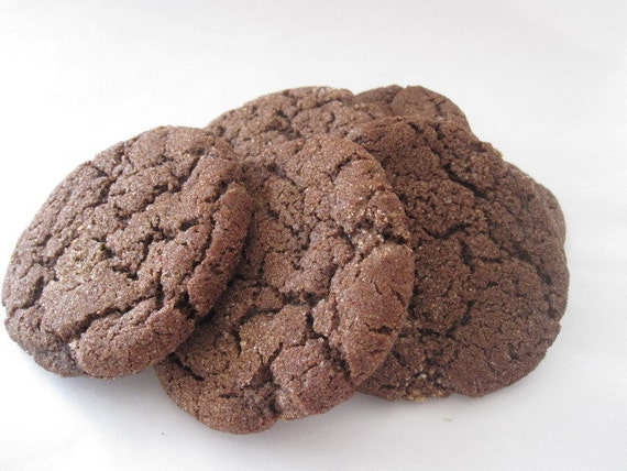 GLUTEN FREE Mexican Chocolate Cookies 1/2 dozen by sugarandflour