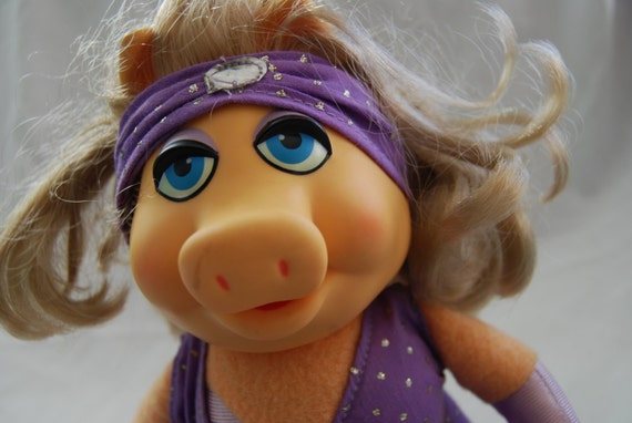 1980 Fisher Price Miss Piggy Muppet Doll - Jim Henson Muppets