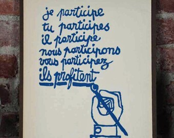 Atelier Populaire Poster Print: I Participate