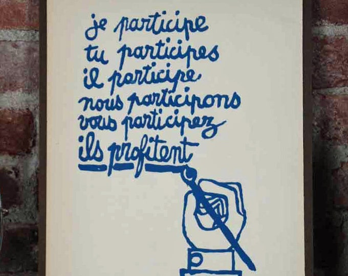 Featured listing image: Atelier Populaire Poster Print: I Participate