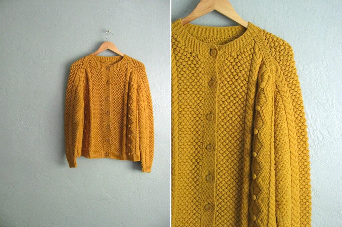 Mustard Yellow Cardigan Ladies 82