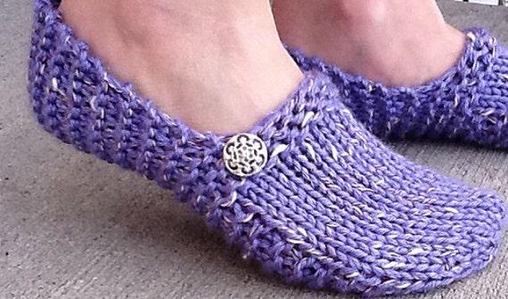 Easy Slipper Knitting Pattern : Kwiki Slippers PATTERN knit in a few hours Seamless and