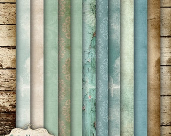 Under The Boardwalk - Digital Scrapbooking Papers - 13 Papers - Sized - 12 x 12  Inches - INSTANT DOWNLOAD -2.75