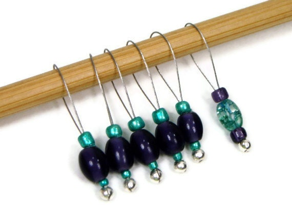 Knitting Stitch Markers Set Snag Free DIY Knitting by TJBdesigns