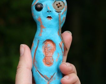 Simply Blue art doll