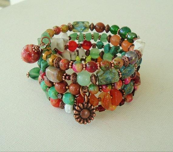 Boho Bracelet Southwest Jewelry Bohemian Style Turquoise