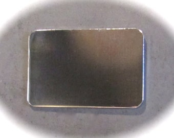 "50 Polished CREDIT CARD Blanks 18 Gauge 2-1/8"" x 3"" Anodized Aluminum - 10 Blanks"
