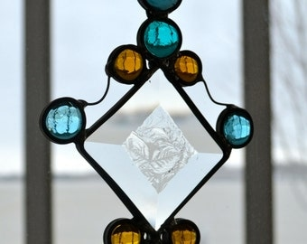 Icy Jewels Stained Glass Suncatcher