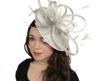 Milion Dollar Ivory Fascinator  Hat for Weddings, Occasions and Parties