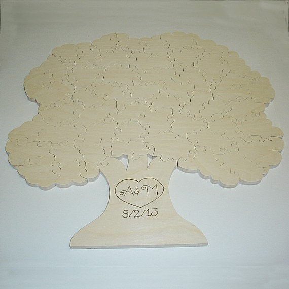 Tree Wedding Guest Book Puzzle - Unfinished - 50 Piece