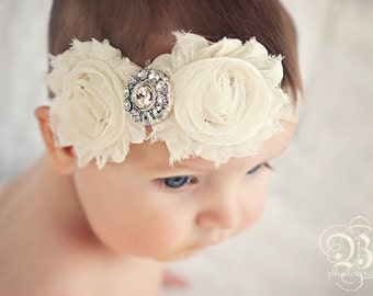Baby Headband..SALE PRICED..Shabby Chic Collection...YOur Choice of Headband....Newborn Collection...Headband Collection