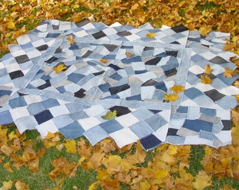 Crazy Denim Quilt Pattern