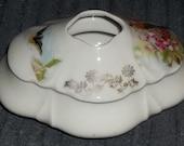 Vintage Antique Porcelain Hair Receiver - Gorgeous