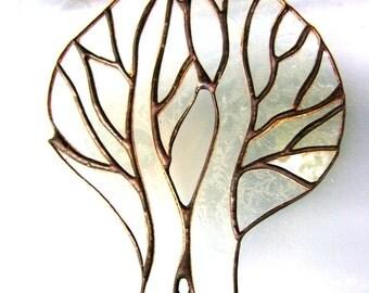 Tree of Life Stained Glass Family Tree Memorial Spiritual Wedding Pagan Yule Mystical Housewarming OOAK Original Design©