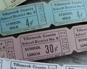 2 Dozen Vintage School Antique Milk and Lunch Tickets Gorgeous Colors