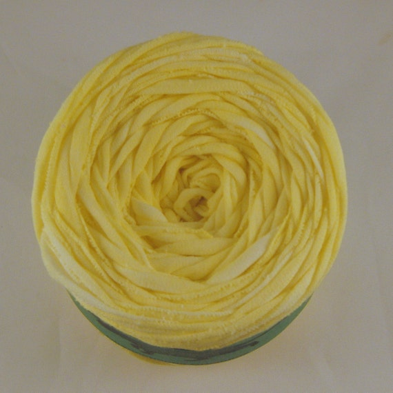 T shirt yarn hand dyed washed lemon 60 yards from for T shirt printing st charles mo