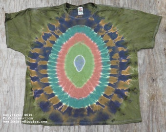 Camouflage Egg Tie Dye T-Shirt (Size 4XL) (Fruit of the Loom) (One of a Kind)