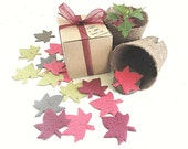 Maple Leaf Fall Wedding Favors - Seed Paper Leaf Party Favors - Fall Bridal Shower Favor Ideas