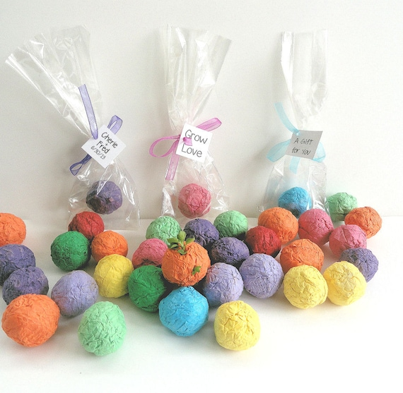 Flower Seed Wedding Favours: 100 Flower Seed Balls Wedding Favors Party Favors Table