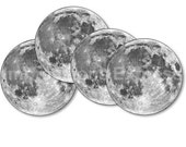 Moon from Space Coasters - Set of 4