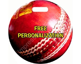 Cricket Ball Personalized Luggage Bag Tag