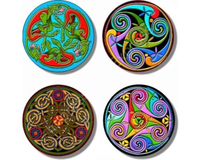 Celtic Design Coasters - Set of 4