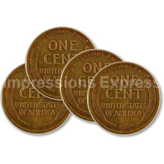 Wheat penny coin coasters set of 4 for Penny coasters