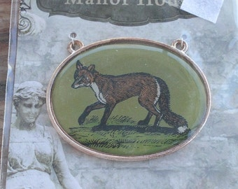 Manor House Fox Pendant NOS  New in Package Destash