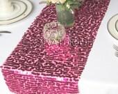 Hot Pink Sparkling Sequin Table Runner Wedding Table Runner