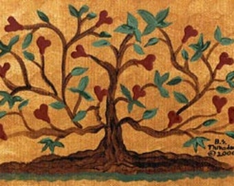 Tree of Love ... FOLK ART PRINT by Barbara Steele Thibodeaux