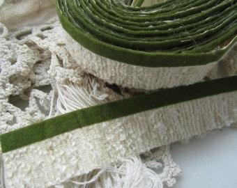 Retro Mod Decorator Adhesive Trim, Forest Green Faux Velvet Edging