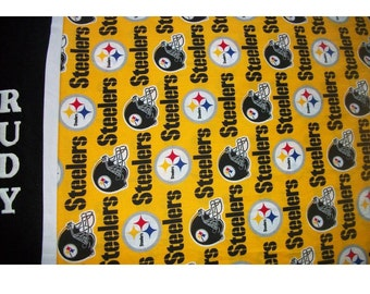 Pittsburgh Steelers Pillowcase for Football Fan - Personalized - Name Glows in the Dark