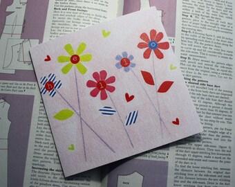 Floral Hello Card