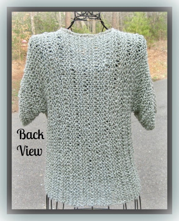 Xl Knitting Patterns : Larger sizes bamboo summer t top adult knitting pattern xl