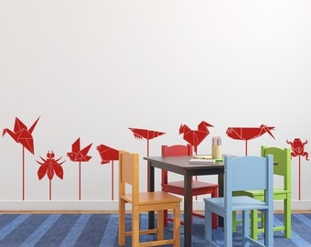 Origami Graphics Vinyl Wall Decal for Children- Origami Wall Graphics, Sticker, item 10018
