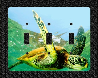 Sea Turtle Triple Light Switch Plate Covers Toggle/Rocker