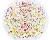 Embroidery Pattern Blomkrans - Flower Wreath - PDF