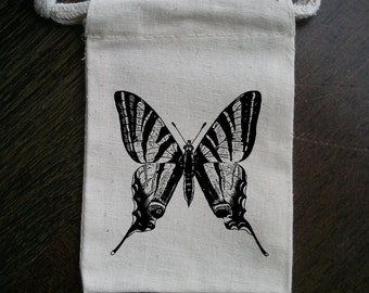 Butterfly Spring Muslin Party Favor Bag