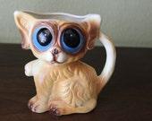 Vintage Retro Big Eyed Gig Style Puppy Vase - Keane Era