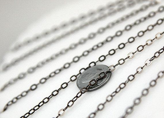 4mm Tiny n' Perfect Black Gunmetal Brass Chain - 10 feet / 3 meters