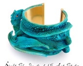 Turquoise Dragon Bracelet Dragon Jewelry Cuff Bracelet- 3D Dragon Jewellery