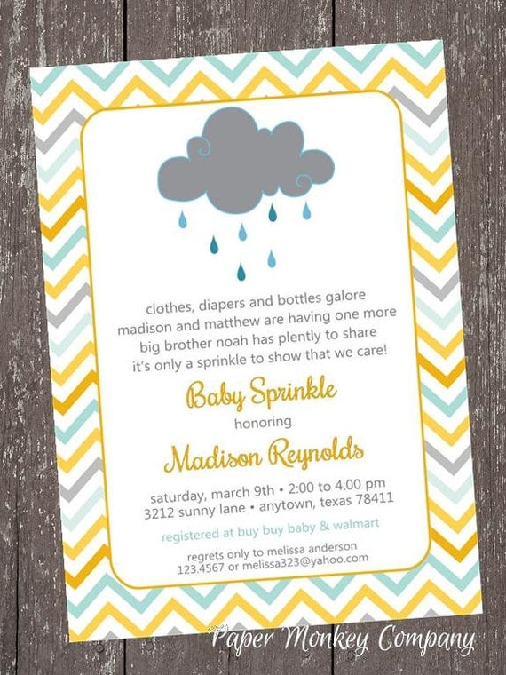 Chevron baby sprinkle clouds rain sprinkle baby shower il570xn filmwisefo
