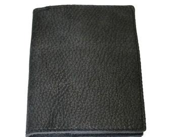 Dark Grey Leather Passport Cover For Men & Women - Accessories