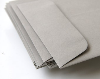 "Open End Business Envelopes . Number 10 Size (4 1/8"" x 9 1/2"") in Gravel Grey"