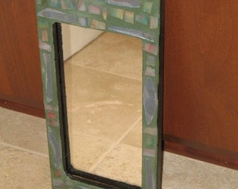 SALE - Muted Tones Mosaic Mirror