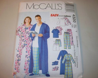 New McCall's, Adult Sleepwear  Pattern, M4320, (Y)  (XS,S,M) (Free US Shipping)